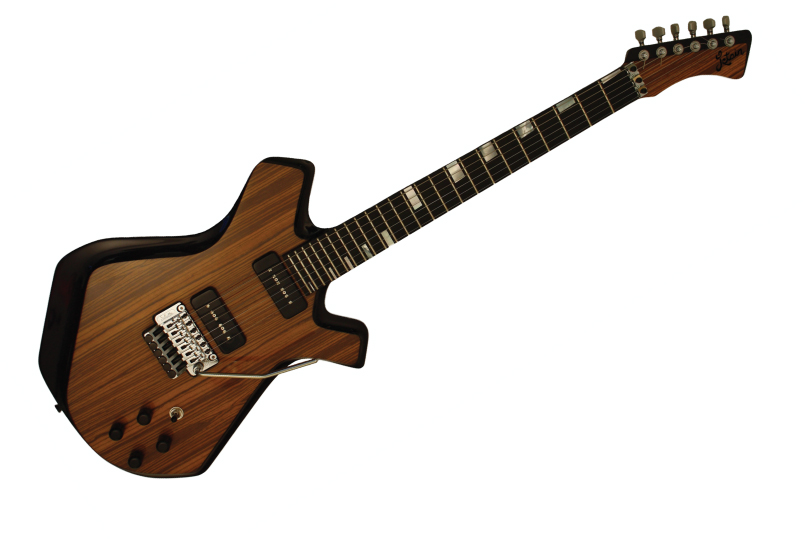 Custom Zebrawood Electric Carbonfiber Guitar Front