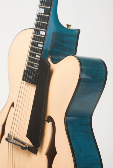 Archtop-Guitar-Handcarved-Blue-Africa