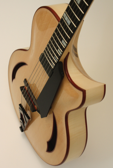 Custom Archtop with a concealed Neck Block